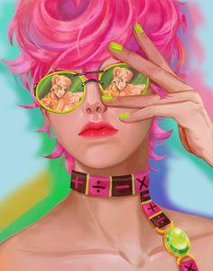 Please check out the artist and please do not steal the art Jojo's Bizarre Adventure, Jojo Parts, Jojo Anime, Girls Anime, Jojo Memes, Spice Girls, Fanart, Jojo Bizarre, Animes Wallpapers
