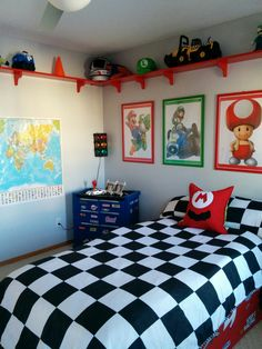 mario brothers decorations bedroom - Internal Home Design Bedroom Themes, Bedroom Sets, Dream Bedroom, Kids Bedroom, Bedroom Decor, Modern Bedroom, Super Mario Room, Brothers Room, Mario Brothers