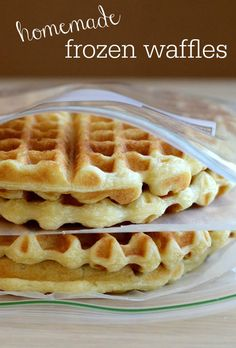 These homemade frozen waffles are so easy to make, and you'll love having them on hand for a quick breakfast. via @realfoodrecipes