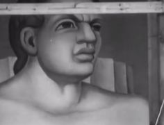 Rare Film of Diego Rivera 1932 Working On The Detroit Industry Murals