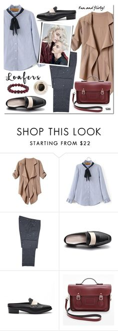 """""""Fall Footwear Trend: Loafers"""" by mada-malureanu ❤ liked on Polyvore featuring The Cambridge Satchel Company, Palm Beach Jewelry, loafers, yoins, yoinscollection and loveyoins"""