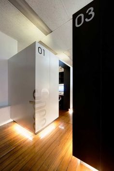 Studio Pods Identification - Coordination of Wayfinding and Interiors ... follow us @ www.pinterest.com/signbrand