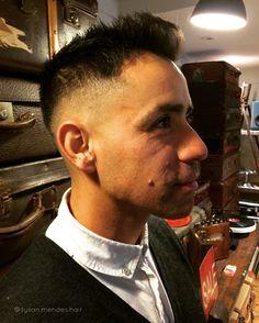 Classic men's razor skin fade haircut