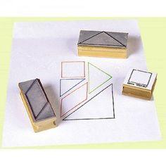 Separate Tangram Stamps