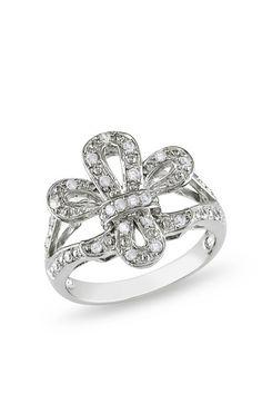 Jeweled Fleur De Lis Ring.