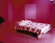 Egg shell pink set, from the series Empty Porn Sets, 2010 © Jo Broughton