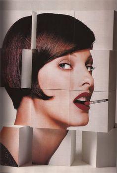 Linda Evangelista photographed by Patrick Demarchelier for Harper's Bazaar US, September 1992.
