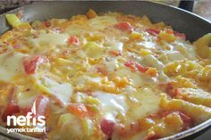 Potato Menemen Recipe potato al horno asadas fritas recetas diet diet plan diet recipes recipes Turkish Recipes, Italian Recipes, Ethnic Recipes, Turkish Breakfast, Italian Breakfast, Turkish Kitchen, Potato Recipes, Macaroni And Cheese, Food And Drink