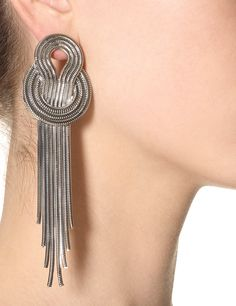 Lara Bohinc Platinum Saturn Earrings