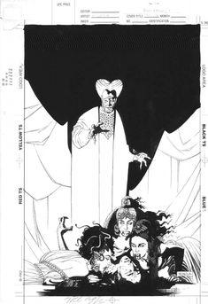 """Mike Mignola - Ilustración para la adaptación a cómic del """"Drácula"""" de F. F. Coppola (1992)"""
