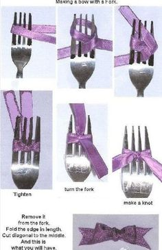 Make a perfect bow with a fork