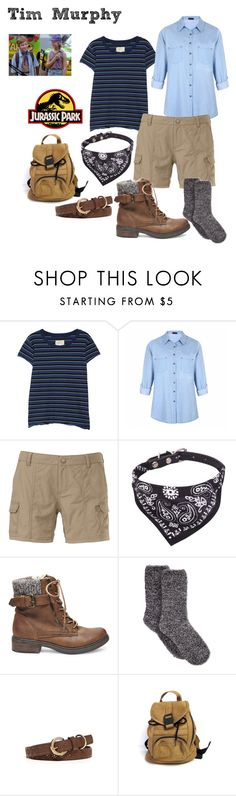 """""""Tim Murphy - Jurassic Park"""" by deathcab4kuz ❤ liked on Polyvore featuring Current/Elliott, Ally Fashion, The North Face, Steve Madden, Charter Club and New Directions"""