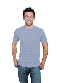 Stone ONNO bamboo and organic cotton t-shirt for men. This color is cool and calm like a stone.