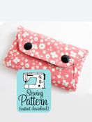 Image of Secret Pocket Envelope Clutches PDF Sewing Pattern