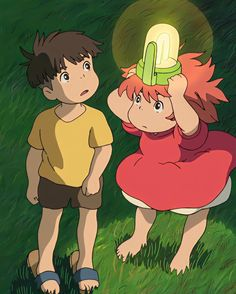 Ponyo Anime, Anime Manga, Studio Ghibli Art, Studio Ghibli Movies, Studio Ghibli Background, Studio Ghibli Characters, Gothic Wallpaper, Anime Pixel Art, Anime Tattoos