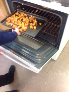 Step 11: Put the cayenne potatoes in the oven