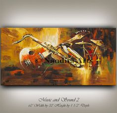Music and Sound 2 ABSTRACT ART From Original Abstract Modern Guitar Music Art Direct From Nandita Arts GALLERY