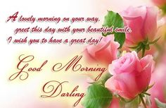 good morning sms pink roses