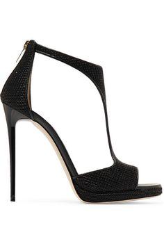JIMMY CHOO Lana Embellished Satin Sandals. #jimmychoo #shoes #sandals