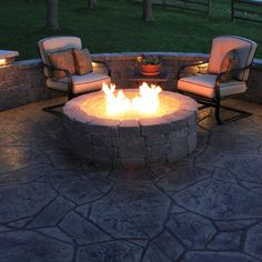 Lovely stamped concrete patio (by Concrete Concepts LLC)