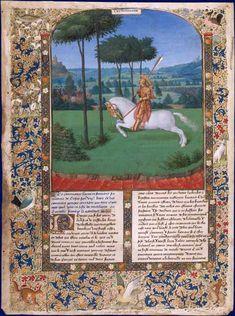 La fuite de Pompée après la bataille de Pharsale, enluminure de Jean Fouquet. Louvre RF 29494 Faits des Romains (exemplaire de Marguerite à la KBR, ms. 9040)