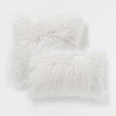 Off-white fur-effect pillow  ZARA HOME