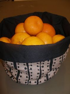 Sew these great collapsible bowls, very handy and easy to store!