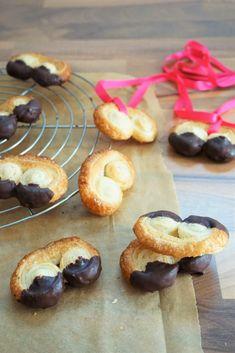 Mini-Schweinsohren mit Schokolade
