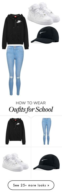 """School "" by kinyhuss-1 on Polyvore featuring NIKE and New Look"
