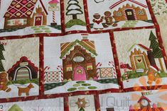 Gingerbread Village - Custom Machine Quilting by Natalia Bonner