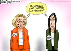 Hillary and Huma having some thoughts on Bill Clinton and Anthony Weiner being such perverts.