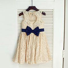 Vestido de dama de honor Corte A - Escote Joya - Hasta la Tibia – USD $ 39.99