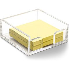 """Package IncludesAcrylic 3x3 Sticky Note Holder, Desk Organizations, Clear (3.9 x 3.9 x 1.6"""") x 1Item DescriptionAcrylic 3x3 Sticky Note Holder, Desk Organizations, Clear (3.9 x 3.9 x 1.6"""")Acrylic Sticky Note Holder (3.9 x 3.95 x 1.6 Inches)STICKY NOTE HOLDER: Decorative, classy, and functional, this lovely sticky note holder make a great desk accessory to keep small notes and stationary items neat and organizedMULTIPURPOSE: Declutter your desk, counter, dresser, or tabletop at home or in the off Stationary Organization, Stationary Items, Bedroom Organization Diy, Amazon Desk, Cool Office Gadgets, Work Desk Decor, Desk Supplies, School Supplies, Note Holders"""