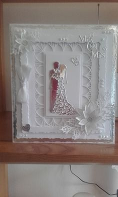 Wedding card from Carole Ballsom for June's Case this craft from #crafterscompanion