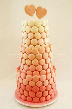 Ombre macaron wedding cake by Sweet Perfection Macarons, Macaron Cookies, Cool Wedding Cakes, Beautiful Wedding Cakes, Wedding Cake Toppers, Macaroon Tower, Macaroon Cake, Meringue, Wedding Cake Alternatives