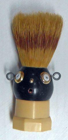 SHAVING BRUSH HEAD - SM-122 by Steve Meadows - Possum County Folk Art Gallery