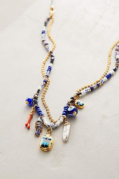 Seven Seas Necklace by Gas Bijoux Beaded Jewelry, Jewelry Box, Jewelery, Jewelry Accessories, Jewelry Necklaces, Jewelry Making, Pearl Necklaces, Bohemian Jewelry, Bracelets