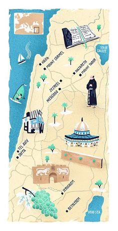 Antoine Corbineau - Map of Israel