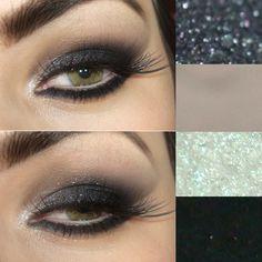 Tutorial – maquiagem olho de gato preto com brilho