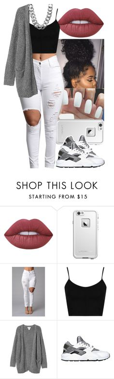 """Untitled #708"" by foreverkaylah ❤ liked on Polyvore featuring Lime Crime, LifeProof, Topshop, Monki, NIKE and Boohoo"