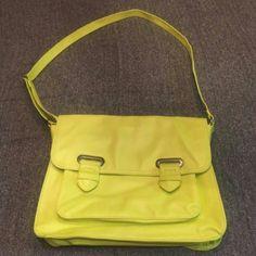 MONDANI NEW YORK  neon messager bag NWOT,12.5X9.5,LOTS OF POCKETS, NO WEAR mondani Bags Shoulder Bags