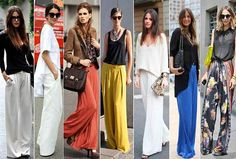 New Trendy Outfits Street Style With Palazzo Pants Collection 2015 (1)