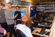 Brixton, January 9: Harry and Meghan visit the radio station Reprezent FM to learn about i... #meghanmarkle #princeharry #royals