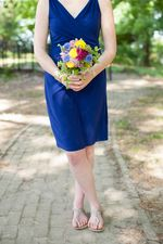 Summer colors are beautiful with this bridesmaid's dress! Seen at Greenwell State Park. www.Greenwell Foundation.org.  Photo by Britt Croft Photography. www.BrittCroftBlog.com