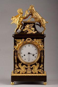 A bronze clock : Bacchus and ibex / Pendule Bouc et Bac