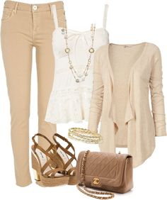 A fashion look from April 2013 featuring pink cardigan, white tank and beige jeans. Browse and shop related looks. Cute Summer Outfits, Fall Winter Outfits, Cool Outfits, Casual Outfits, Fashion Outfits, Womens Fashion, Jeans Fashion, Outing Outfit, Outfits 2014