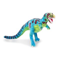 Blue Stuffed T Rex Dinosaur Dragon Toy 24 Inches Adorable Mystical Magical Wild Animal Plush Toys Fantasy Cuddly Soft Friendly Features Rip Roaring Giant Stuffed Animals, Dinosaur Stuffed Animal, Stuffed Toys, Dinosaur Toys, Dinosaurs, Dinosaur Birthday Party, T Rex, Bold Colors, Kids Toys
