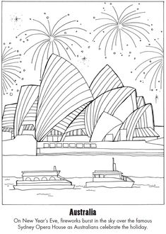 Australian Animals Colouring Page