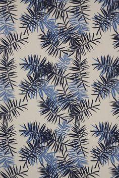 Palmfrond in Indigo & Periwinkle 1