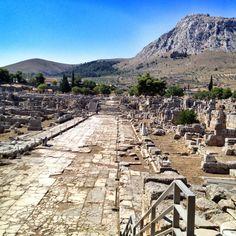 Ancient Corinth #ruins #corinthians #korinthos #apostlepaul #bema #greece